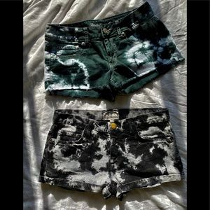 AMERICAN EAGLE and CURRENT ELLIOT tie dye shorts 6